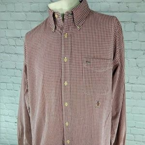 Tommy Hilfiger Men's Long Sleeve Shirt Plaid LG